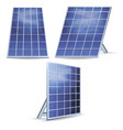 realistic detailed 3d solar panels set vector image vector image