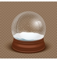 realistic snow globe vector image vector image