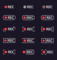 recording icons smartphone or camera viewfinder vector image vector image