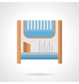 Room heater flat color icon vector image vector image