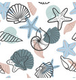 seashell seamless pattern design for holiday vector image vector image