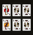 set of leisure cards vector image