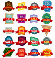 set of twenty discount stickers vector image vector image