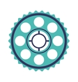 silhouette blue pinion with rings vector image vector image