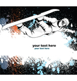 snowboarder with grunge vector image vector image
