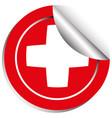sticker template for switzerland flag vector image
