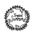 summer script text template vector image vector image