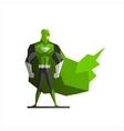 Superhero In Green Suite vector image