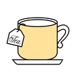 tea cup with bag isolated icon design vector image vector image