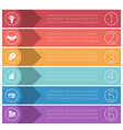 template infographics from colorful strips vector image vector image