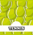 tennis balls sport background design vector image