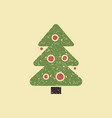 the symbol of the celebration of christmas and new vector image vector image