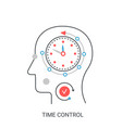 time control concept vector image vector image