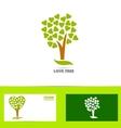 Tree love logo concept vector image