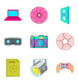 tv series icons set cartoon style vector image vector image