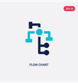 two color flow chart icon from business and vector image vector image