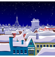 View of the roofs of the winter night city vector image vector image