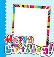 Happy Birthday scrapbook vector image