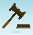 Gavel Icon law Symbol of justice and judgment vector image