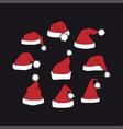 santa claus red hats vector image