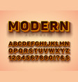3d alphabet font with frame and shadow on vector image