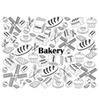 Bakery colorless set vector image vector image