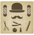 barber old background vector image