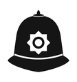 British police helmet icon simple style vector image vector image