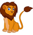 cartoon lion pose vector image vector image