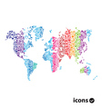 Color World Map on white vector image vector image