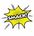 comic speech bubble pop art smack vector image