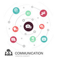communication colored circle concept with simple vector image vector image