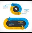 creative business arrow info-graphics design vector image vector image