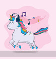cute unicorn fantasy cartoon vector image