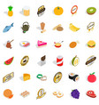 eating icons set isometric style vector image vector image