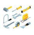 electronic tools for construction isometric vector image vector image