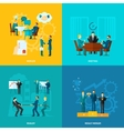 Flat Collaboration Set vector image vector image