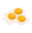 fried eggs isolated on white background vector image vector image