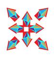 from rhombus purple arrow logo design vector image vector image