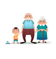 funny cartoon family happy grandfather vector image vector image