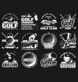 golf club championship sport league badge icons vector image vector image