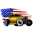 graphic design an american muscle car vector image vector image