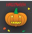 halloween carved pumpkin eps10 vector image vector image