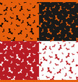 halloween pattern set with bats vector image vector image