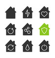 houses glyph icons set vector image vector image