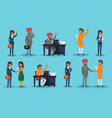 icons set with ethnic businesspeople vector image vector image