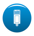 information usb icon blue vector image vector image