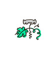 line icon corkscrew vector image