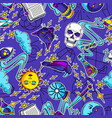 magic seamless pattern with mystery items mystic vector image vector image