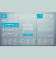 mailbox user interface concept vector image vector image
